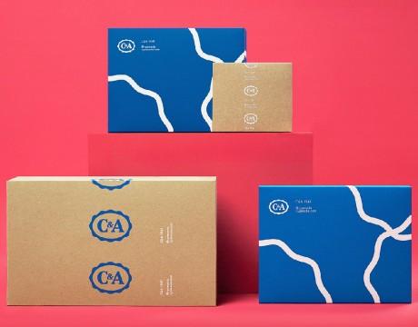 服装时尚品牌C&A品牌包装及图形标识系统设计