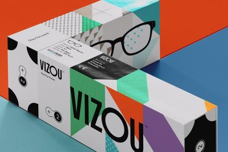 老花镜的包装设计可以这样充满朝气来看看德国VIZOU品牌的设计