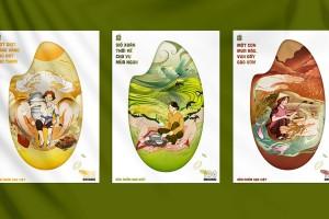 Mother Kitchen(母亲厨房)从简约到细腻,非常震撼的插画系列有机大米包装设计