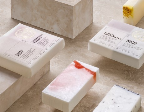 丰富的天然手工皂包装设计