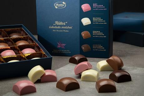 Rūta. 4个巧克力收藏包装设计