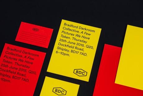 被美工吐槽的红黄配色在设计师手里充分发挥,Bradford摄影暗房品牌识别设计