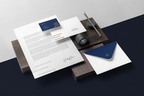 这家公司的VI设计很有格调,FREDMAN & CO企业视觉识别系统设计