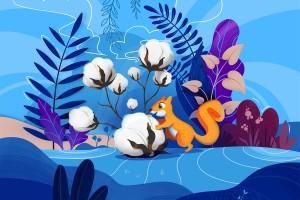 这款森林系插画风格的儿童化妆品包装设计充满亲和力