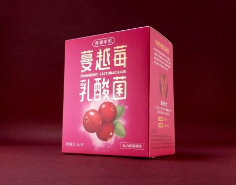 台湾食事平衡蔓越莓乳酸菌食品包装设计