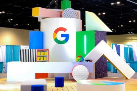 用系列超大的几何形状打造了一场不一样的会议活动,谷歌脑洞果然够开
