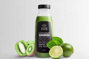 新鲜的绿色果汁品牌Smoothie品牌全案设计和包装设计