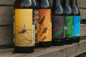 创意啤酒瓶贴系列包装设计感受自然风情,意大利Rotorcraft酒标签设计