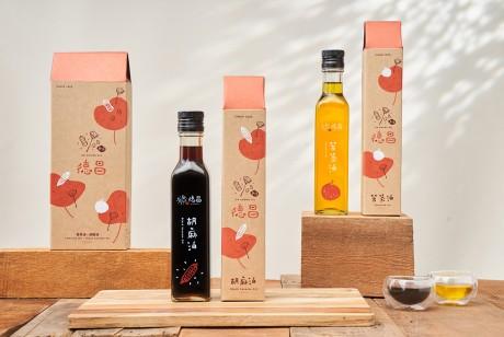 食用油包装设计突破更好看,欣赏台湾白河德昌油品包装设计