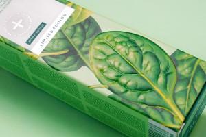 果蔬插画牙膏盒设计,ECODENTA限量版包装设计