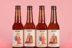 啤酒包装标签插画设计,给传统的酒带来新生的活力