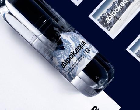 优质矿泉水包装设计引人入胜,阿尔卑斯山脉的感官呈现