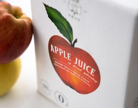 红苹果汁包装策划设计,强调果汁的天然和生态纯度