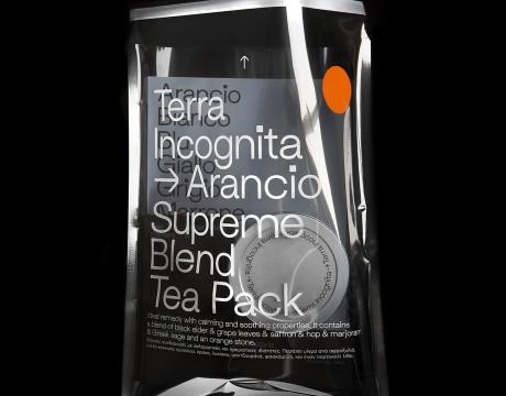 感官创意的透明袋,Terra Incognita花草茶包装设计