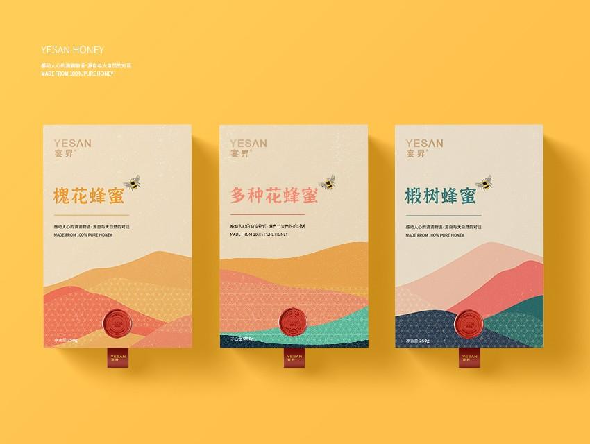 宴昇YESAN蜂蜜包装设计