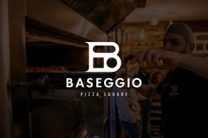 餐饮品牌识别设计简约干净有食欲,意大利小吃Baseggio比萨logo设计