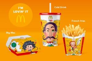 34款有趣的麦当劳插图设计,大胆创新餐饮插画包装设计